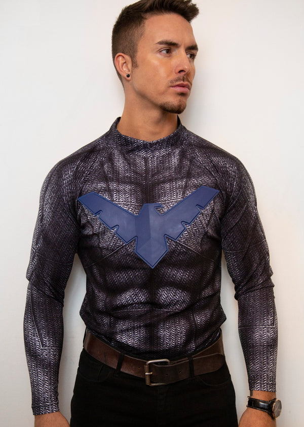 Mens Nightwing Grayson 3D Compression Shirt Under Armor