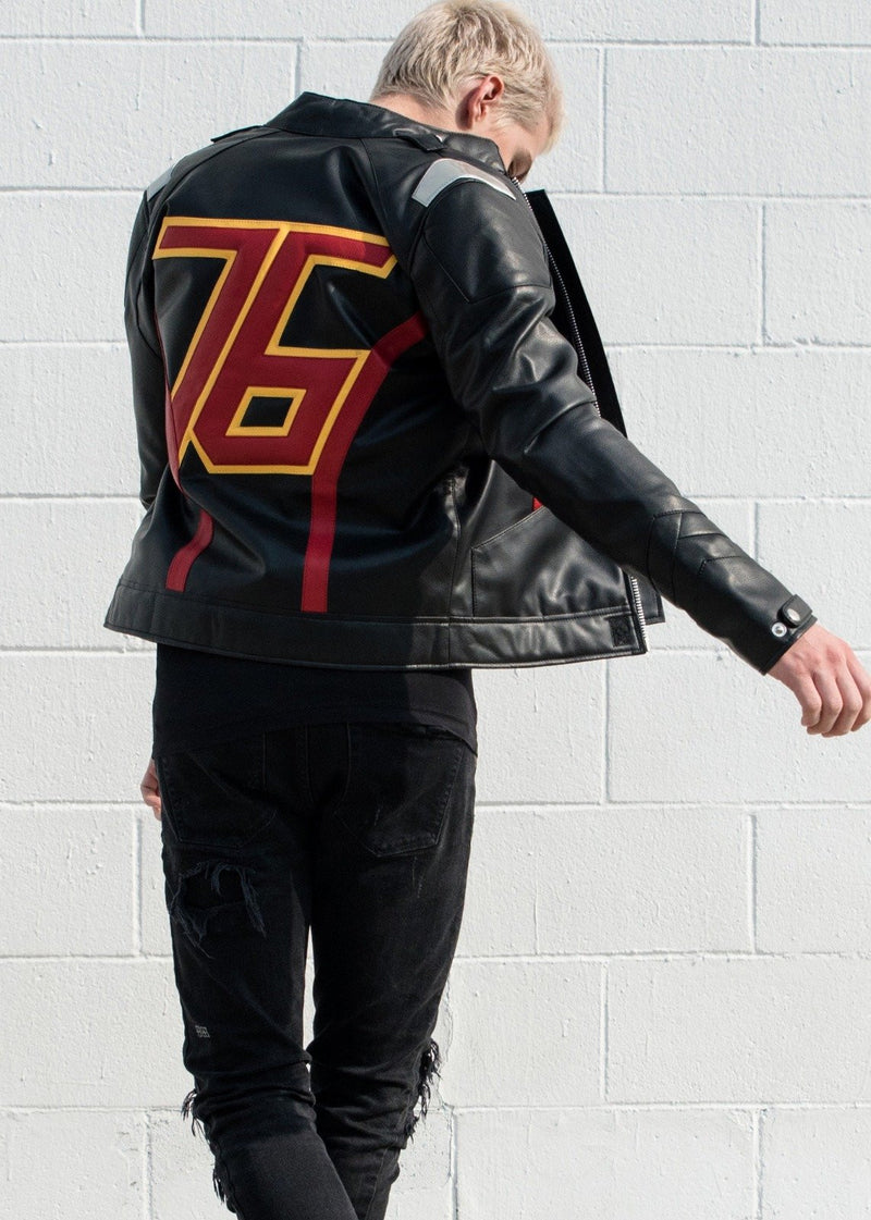 Mens Overwatch Soldier 76 Jacket Black