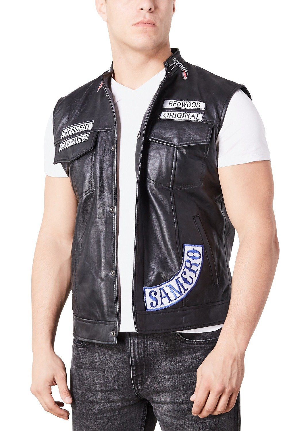 Sons of Anarchy Costume Replica Motorcycle Vest Leather