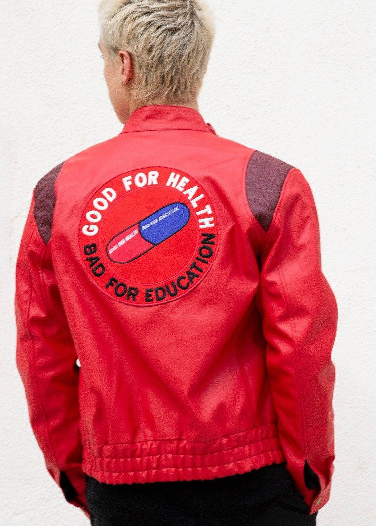 Akira Kaneda Red Leather Jacket Anime good for Health Bad for Education