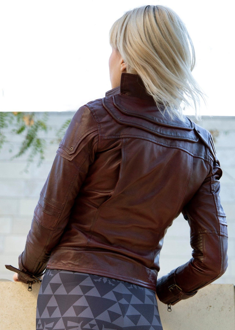 Womens Marvel Guardians of the galaxy star lord Leather Jacket