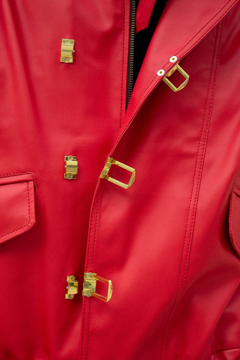 Mens Akira Kaneda Leather Jacket Red