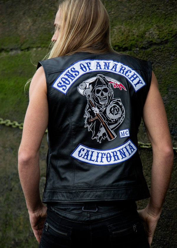 Sons of Anarchy Replica Motorcycle Biker Vest Leather Jacket Patches