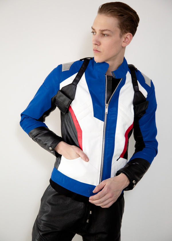 Mens Overwatch Soldier 76 Jacket Blue