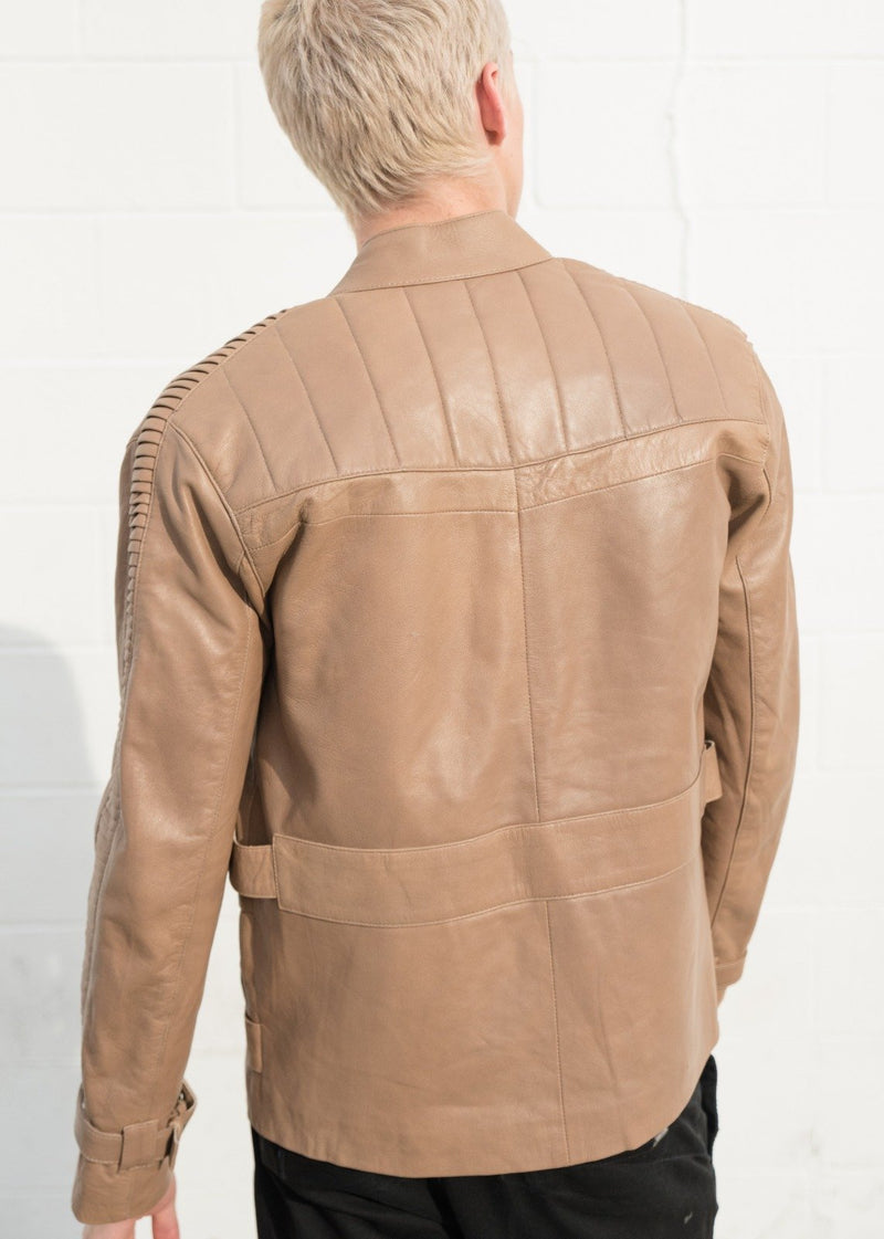 Mens Star Wars Rebel Alliance Poe Dameron Leather Jacket back