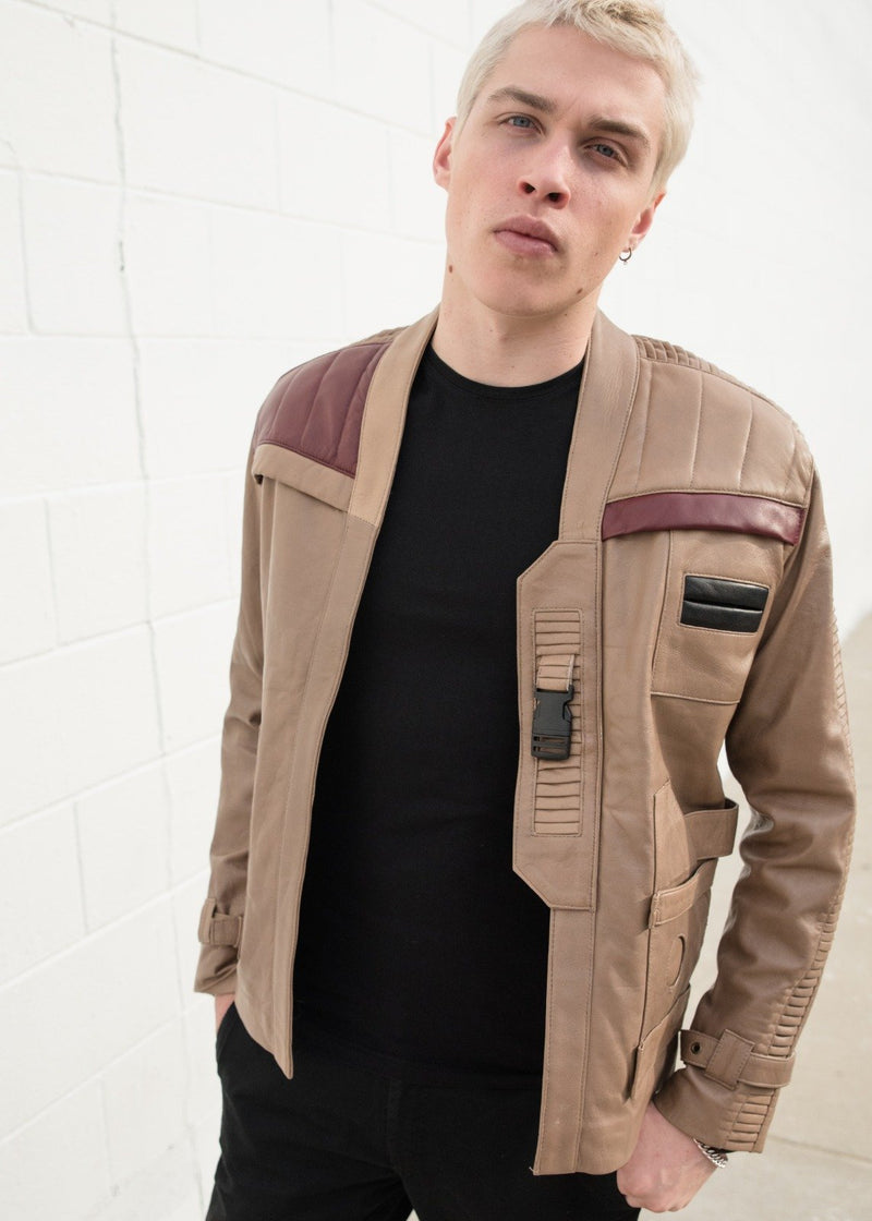 Mens Star Wars Rebel Alliance Poe Dameron Leather Jacket