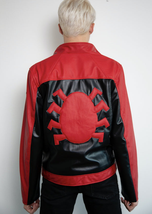 Mens Last Stand Black and Red Leather Jacket