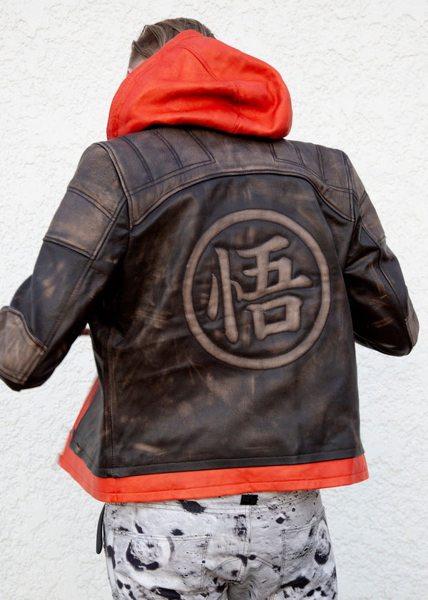 Buy Goku Jacket Luca Designs Leather Jacket Back