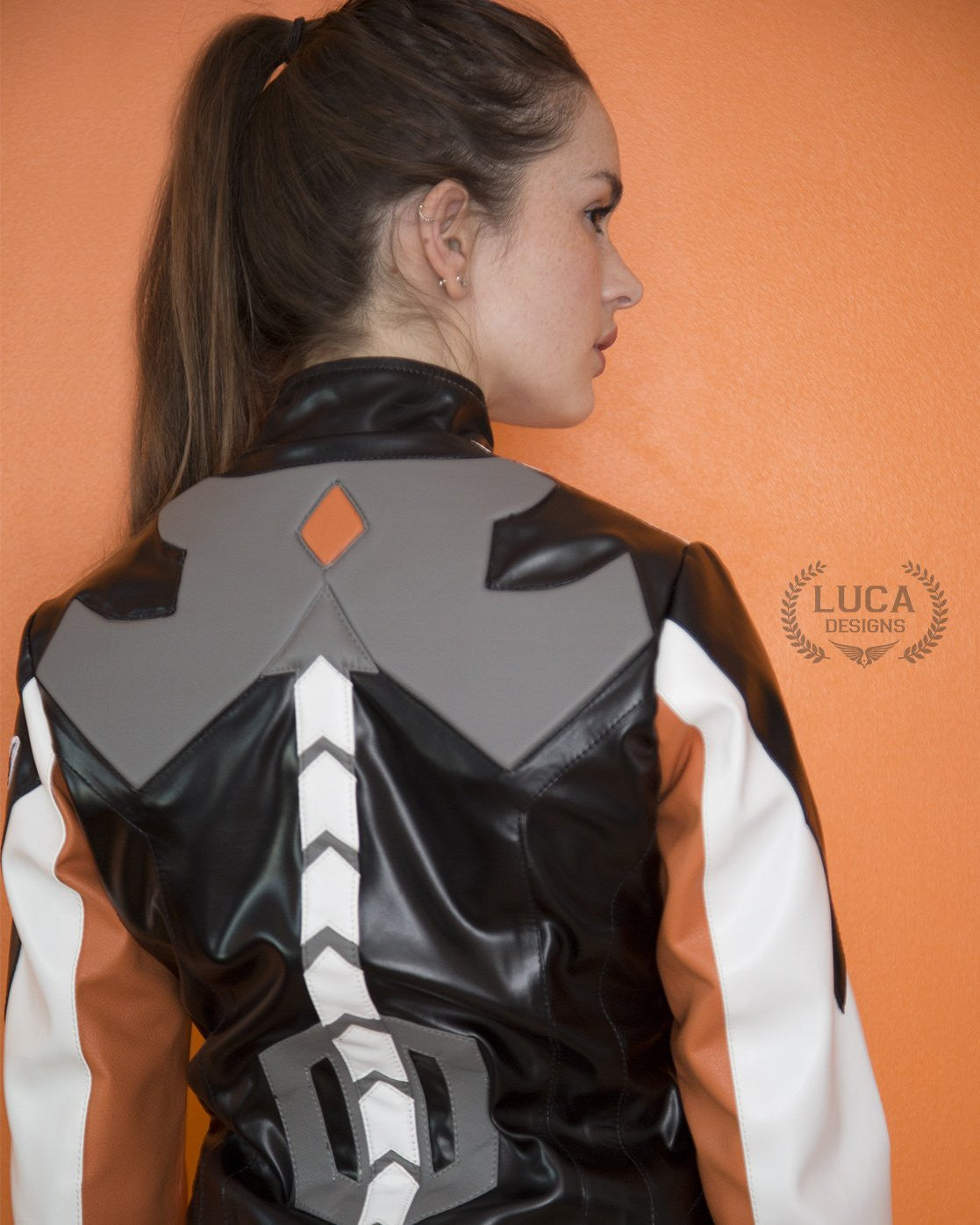 Womens Overwatch Mercy Valkyrie Leather Jacket White
