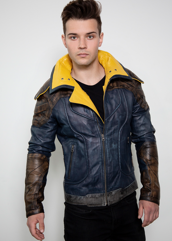 Borderlands 3 Zane Leather Jackets Blue for Mens