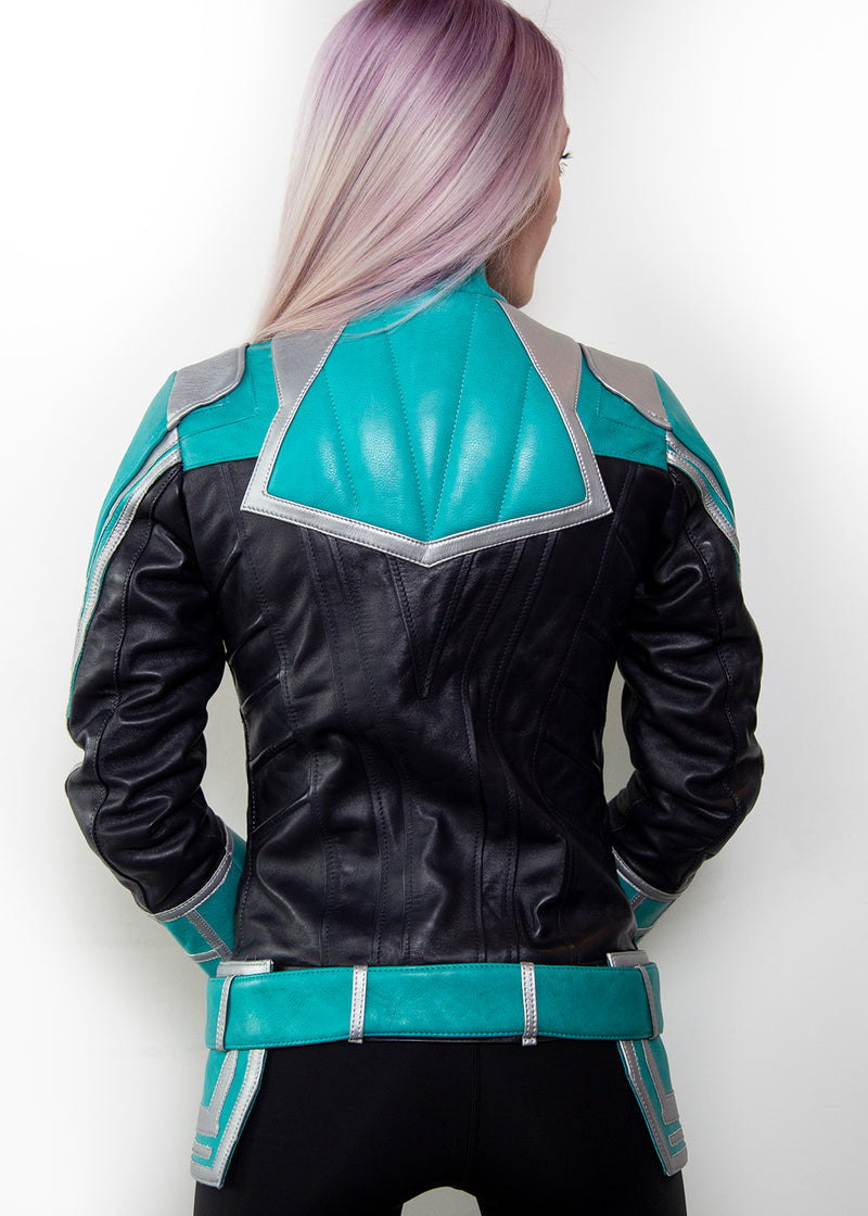 The Original Captain Limited Edition Motorcycle Leather Jacket, Back