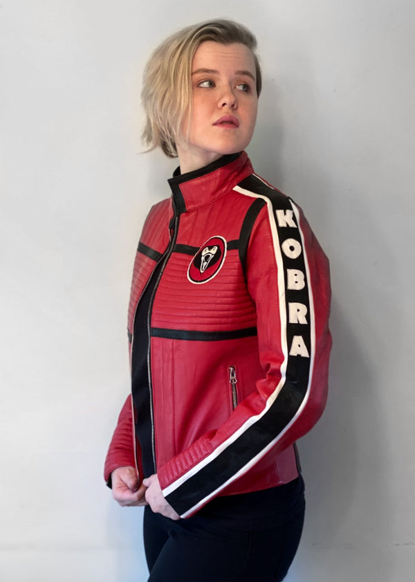 My Chemical Romance Mikey Way Kobra Kid - Danger Days Red Leather Motorcycle Jacket