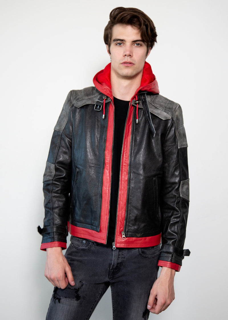 Jason Todd Hooded leather jacket Red Hood