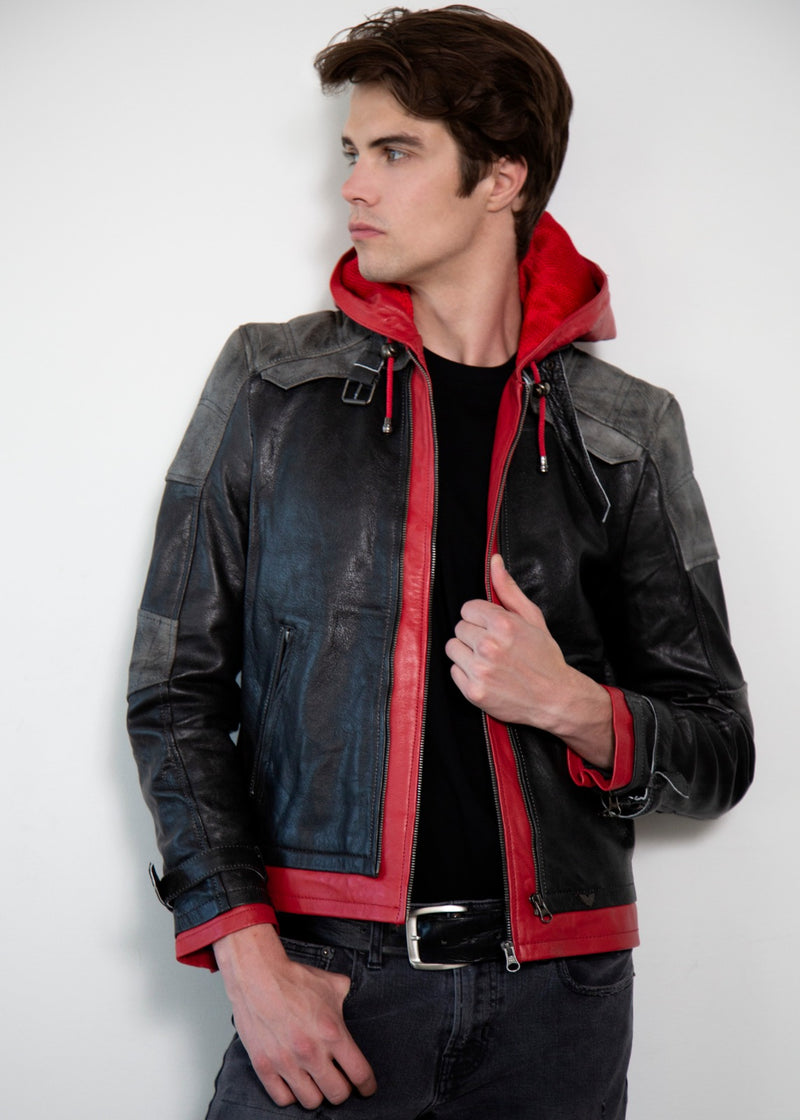 Red Hood Arkham Knight Leather Jacket