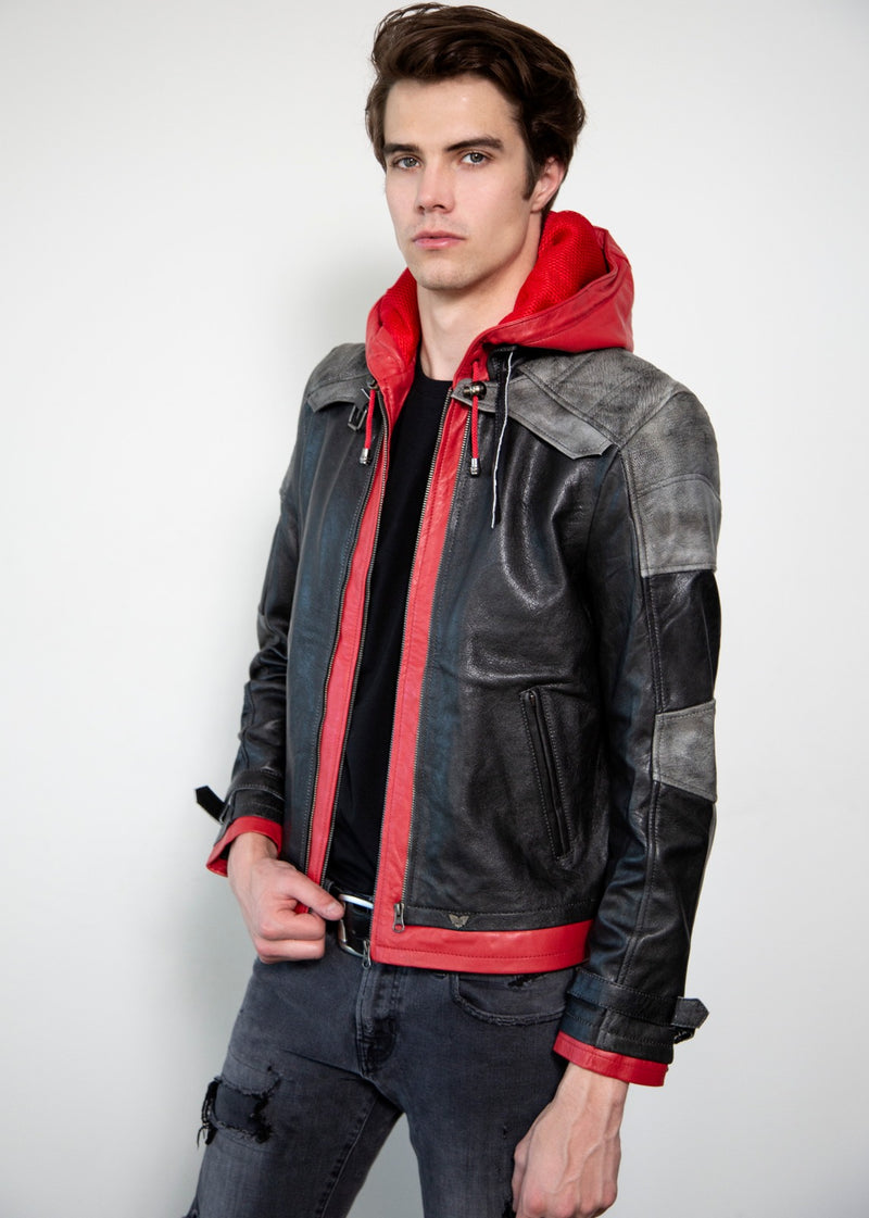 Jason Todd Leather Jacket from Batman Arkham Knight Red Hoodie
