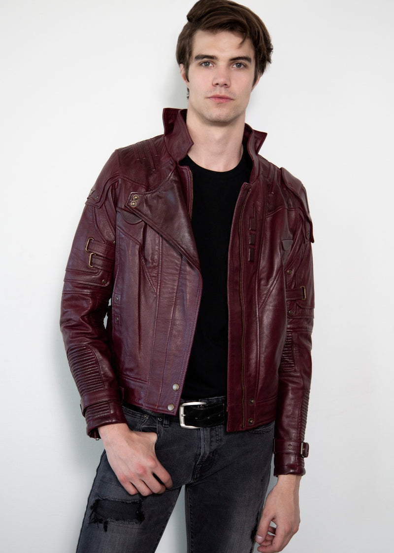 Star Lord Chris Pratt Leather Jacket Galaxy