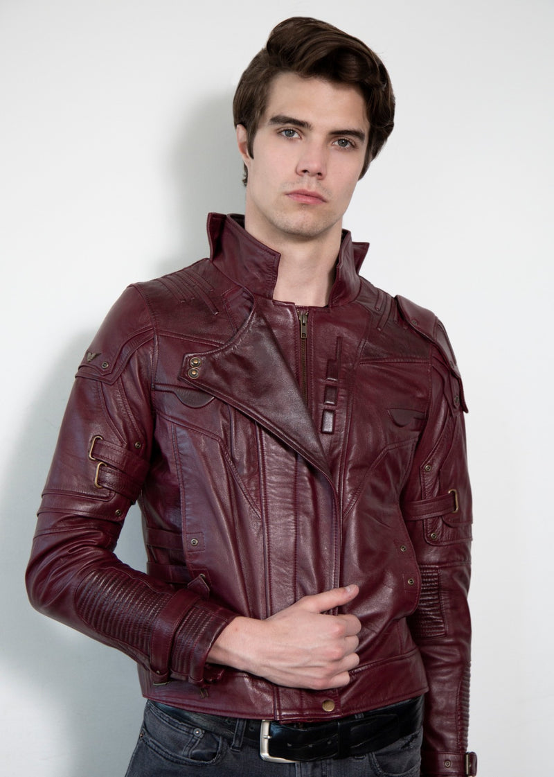 Chris Pratt Star Lord Leather Jacket Guardians of the Galaxy