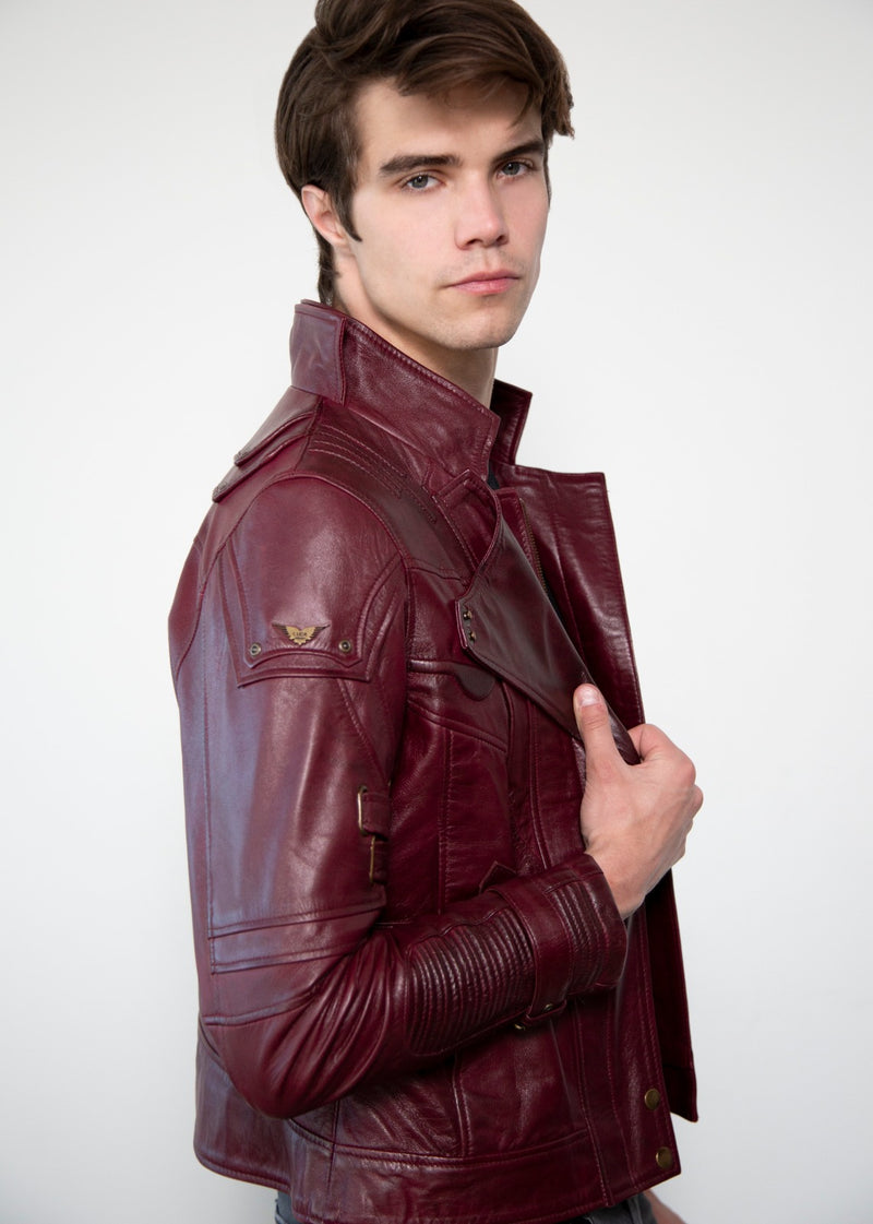 Mens Star Lord Ravager Leather Jacket