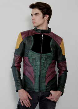 Mens Boba Fett Mandalorian Star Wars Leather Jacket
