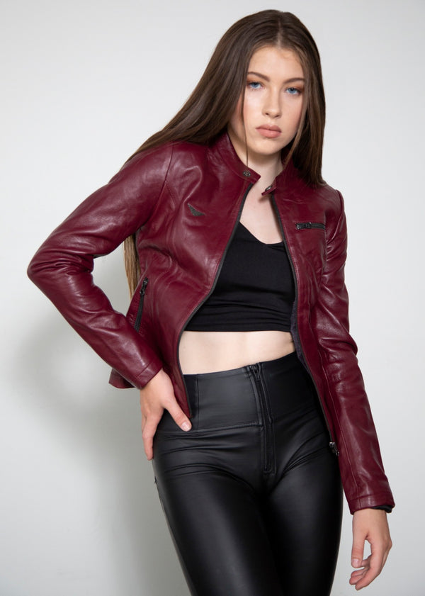 Resident Evil 2 Claire Redfield Motorcycle Leather Jacket