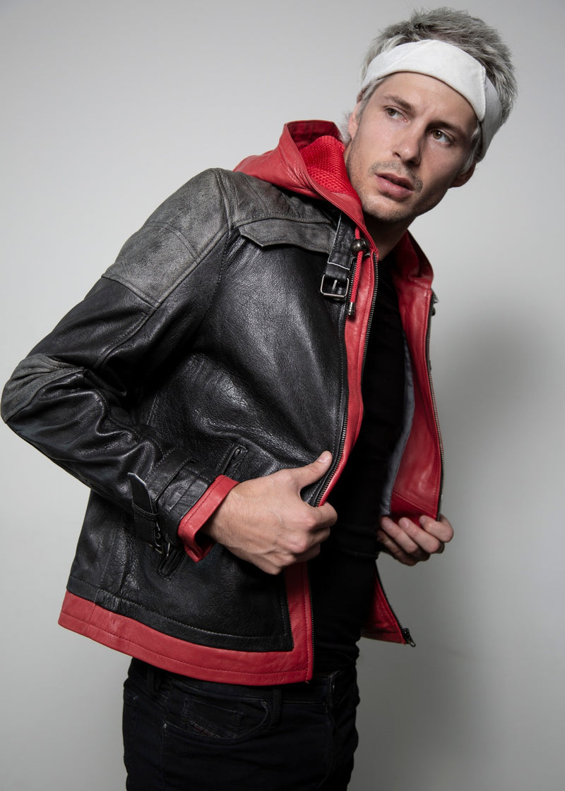 Red Hood Jason Todd Leather Jacket Hoodie