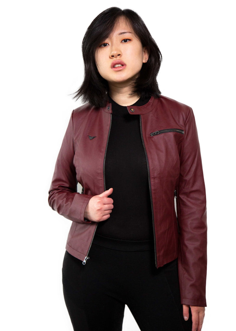 Claire Redfield Resident Evil Red Vegan Leather Jacket