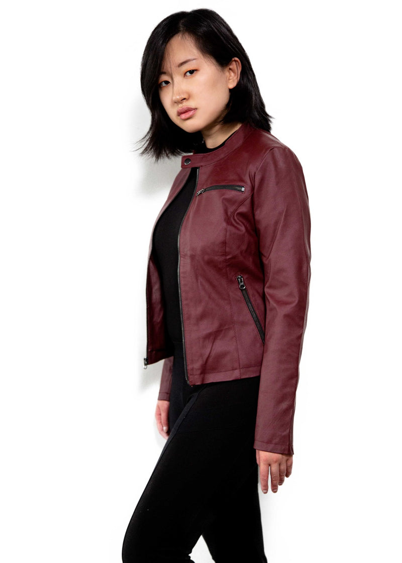 Claire Redfield Red Vegan Leather Jacket from Redisent Evil 2 remake