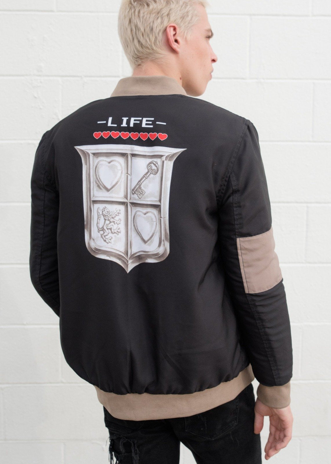 Mens The Legend of Zelda NES Bomber Jacket