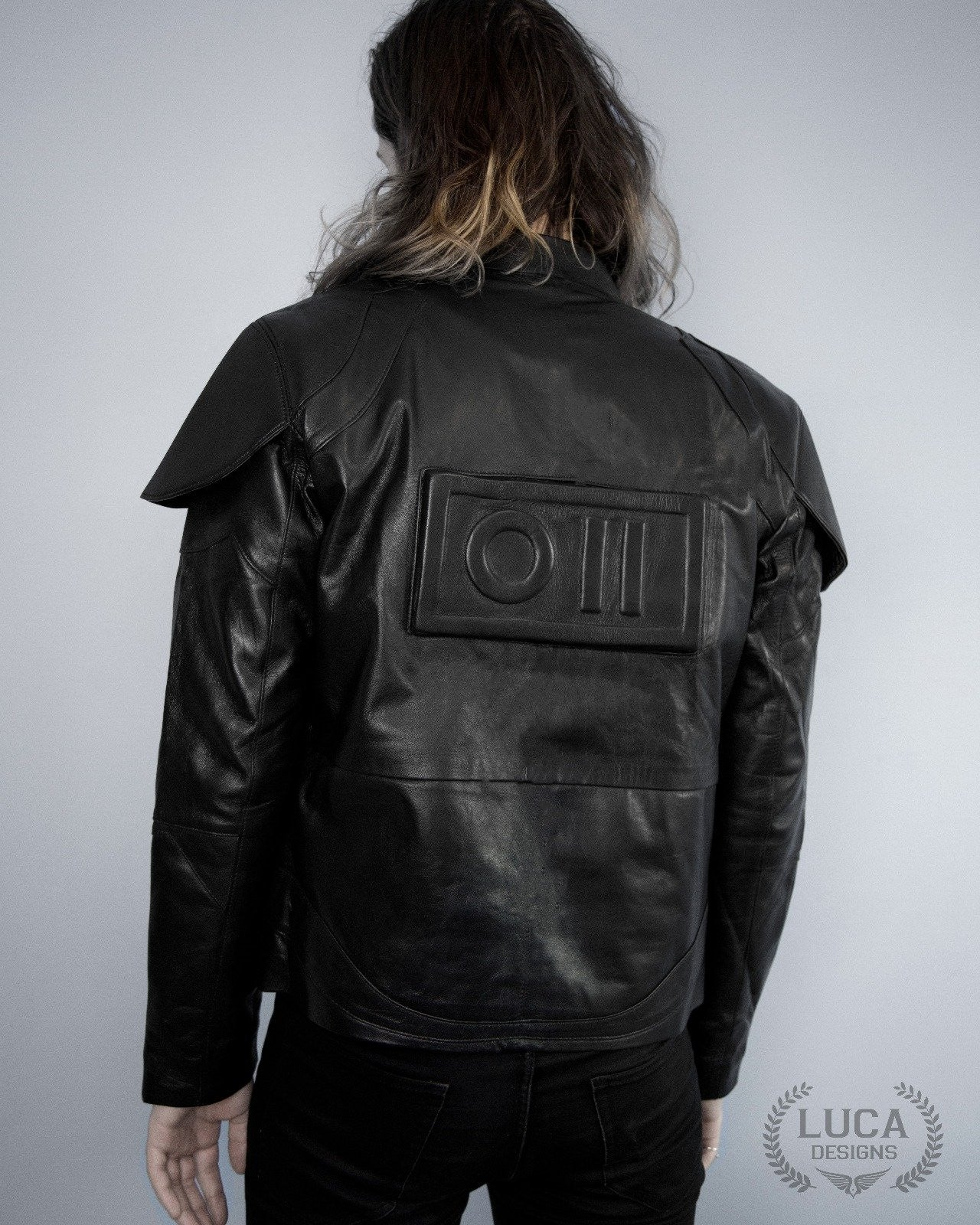 Mens Star Wars Shadow Trooper Leather Jacket Armor Black