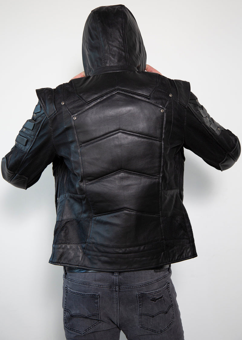 Black Arrow Limited Edition Oliver Queen Leather Jacket Back