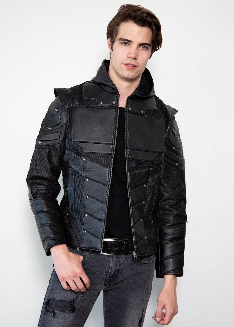 Green Arrow Blackout Collection Limited Edition Leather Jacket