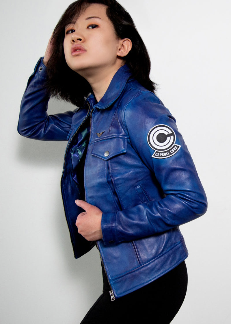 Womens Dragon Ball Z Trunks Leather Jacket