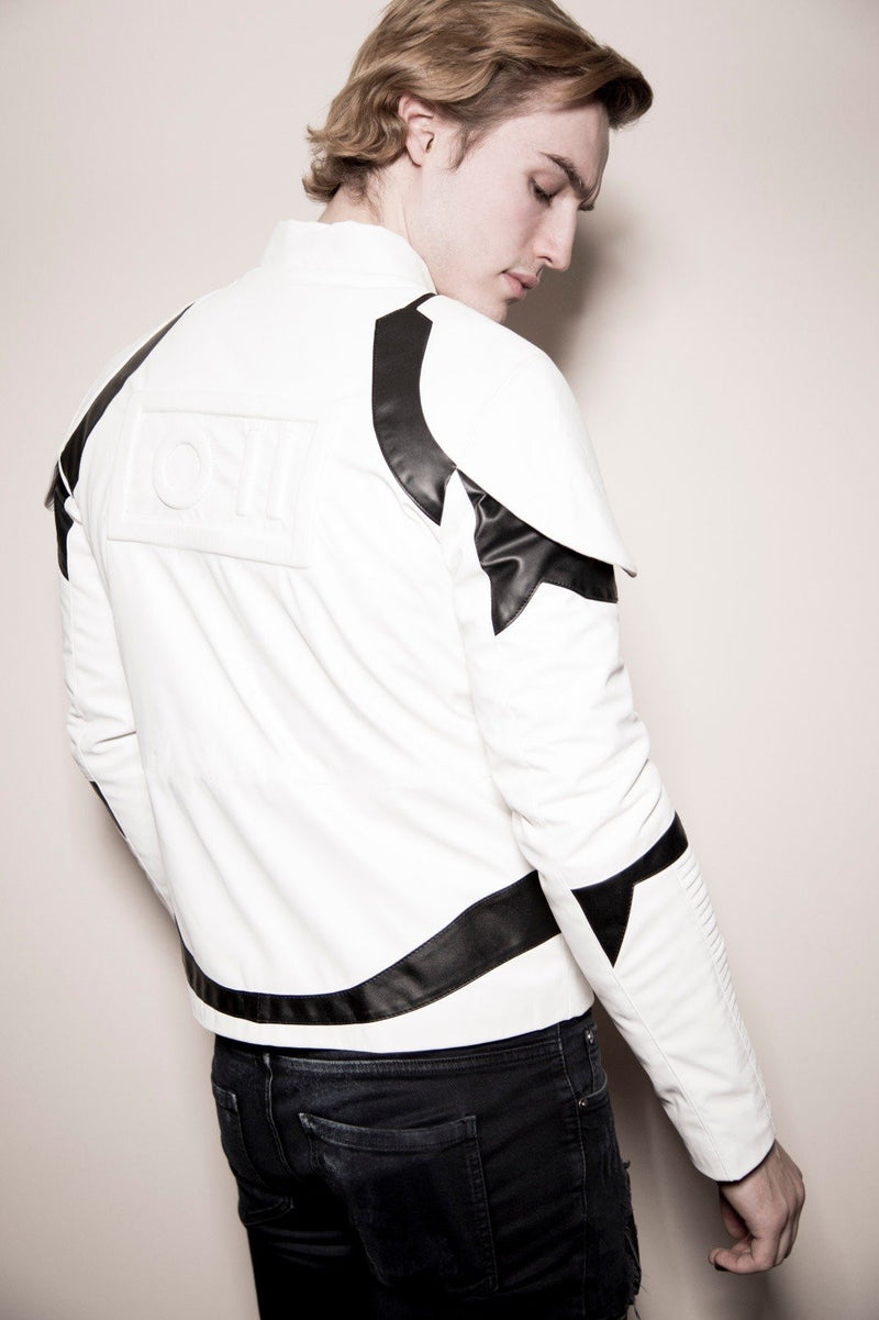Trevor Stines wearing Luca Designs Storm Trooper Jacket Poetry Riverdale