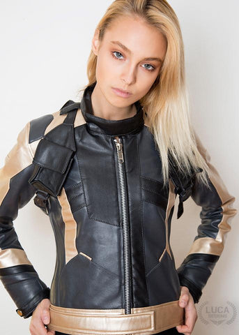 Womens Overwatch Soldier 76 Jacket Gold