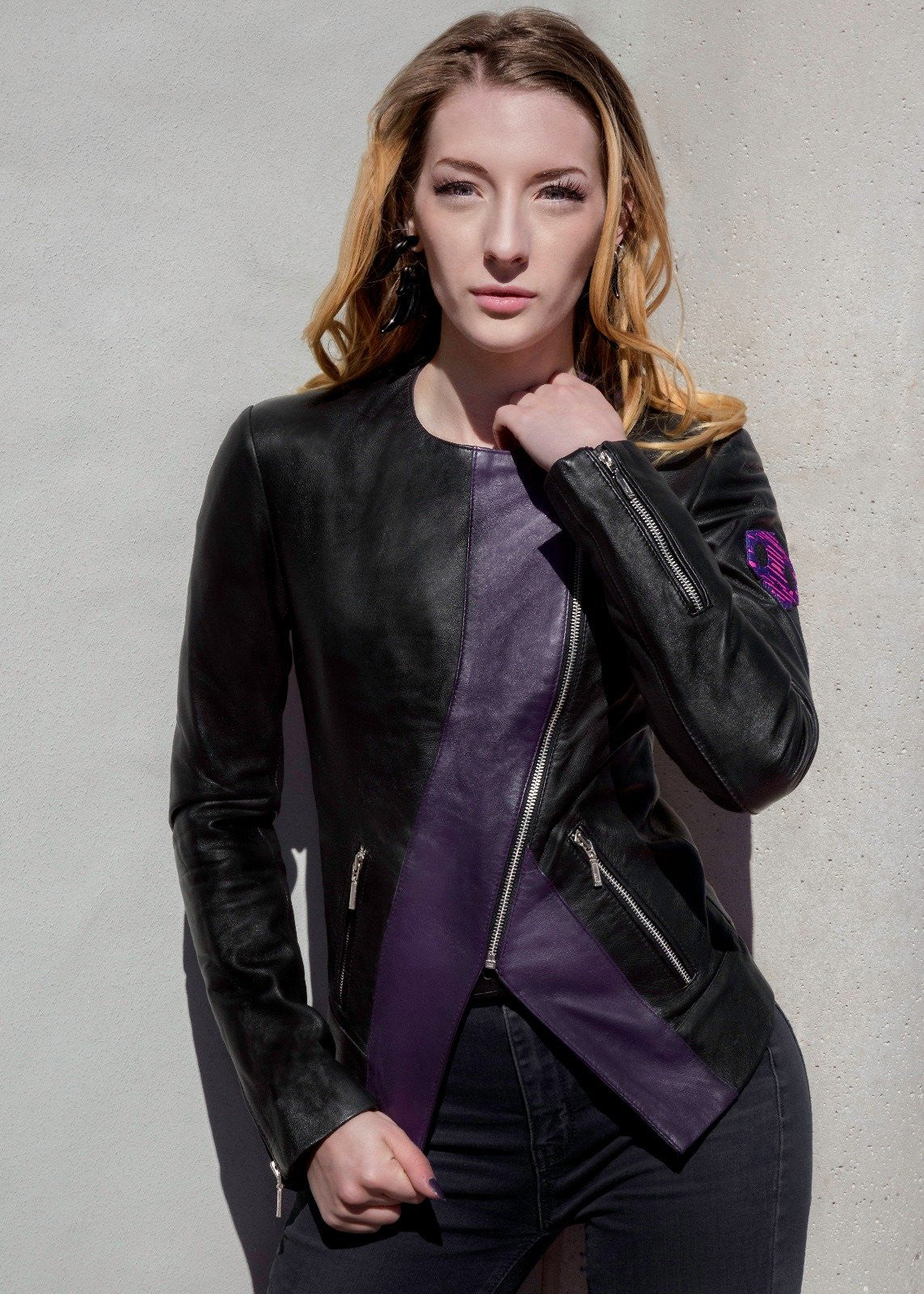 Womens Overwatch Sombra Leather Jacket