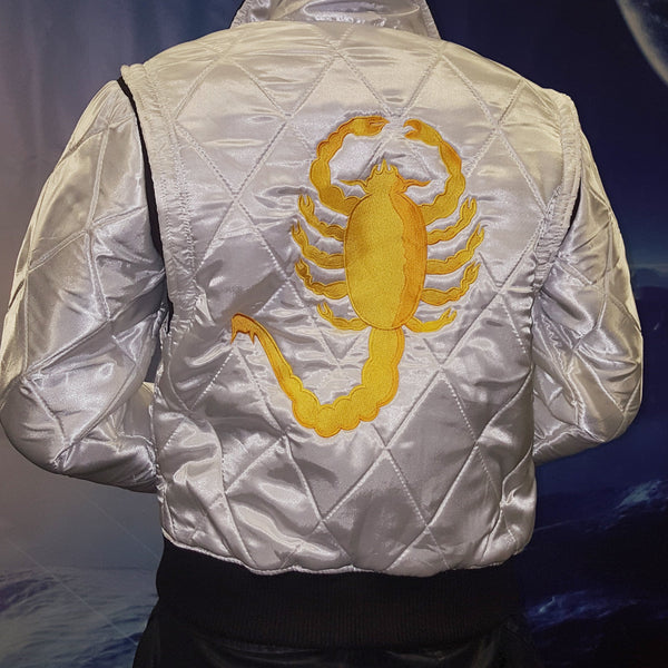 Royal You Satin Fabric Scorpion Jacket for Drive Lovers