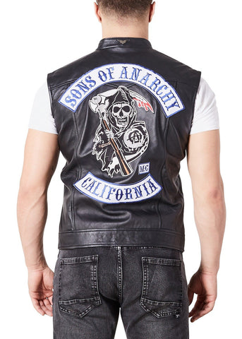 Sons of Anarchy Replica Motorcycle Vest Leather Jacket Patches