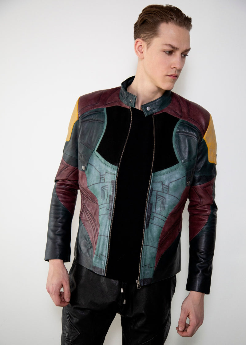 Mandalorian Leather Jacket Boba Fett Luca Designs