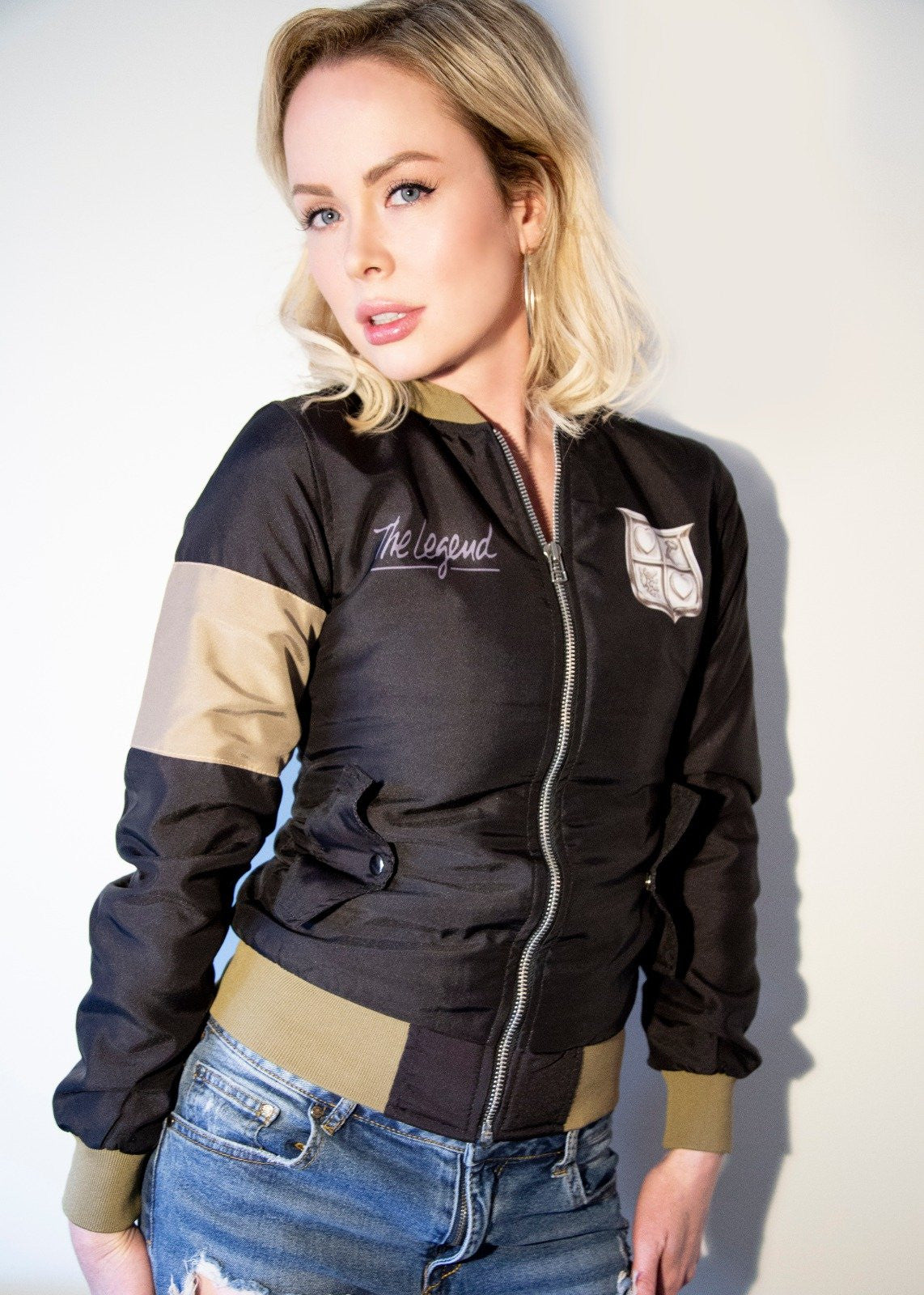 Womens The Legend of Zelda NES Gameboy Bomber Jacket