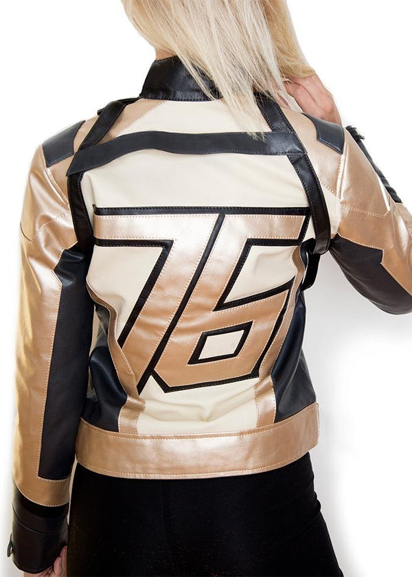 Women-76-Soldier-Leather-Gold-And-black-Jacket-buy