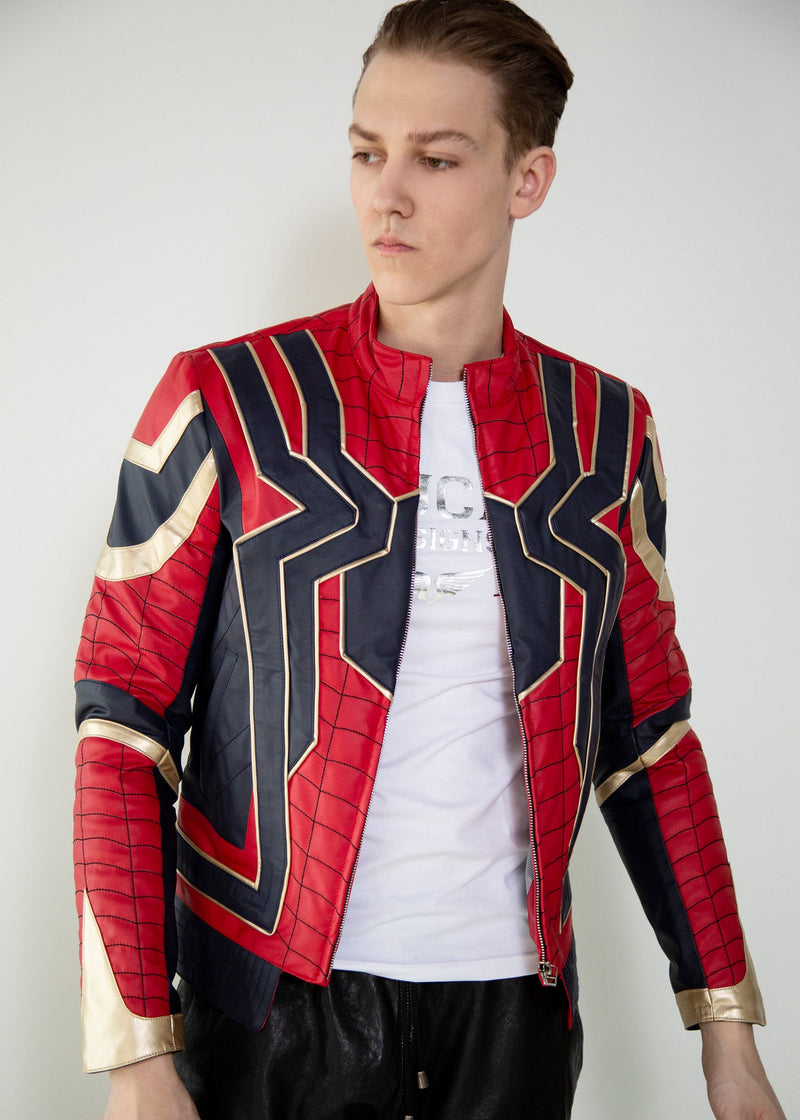 Mens Spider-Man Peter Parker Leather Jacket