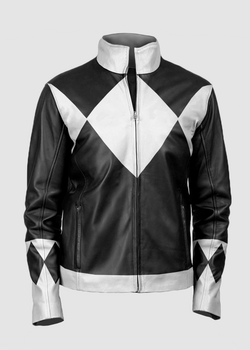 Mens Power Rangers Classic Leather Jacket Black