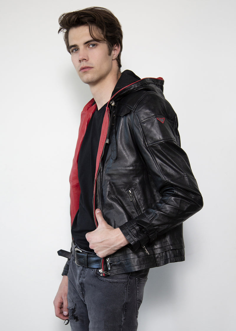 Jason Todd Redhood Limited Edition Blackout Collection Leather Jacket