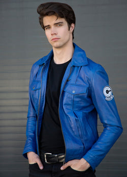 Buy Mens Trunks Leather Jacket Blue Purple