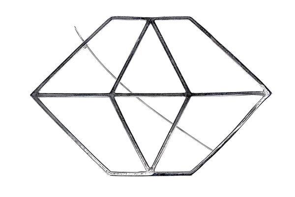 The Hexagon Scarf Clip Silver