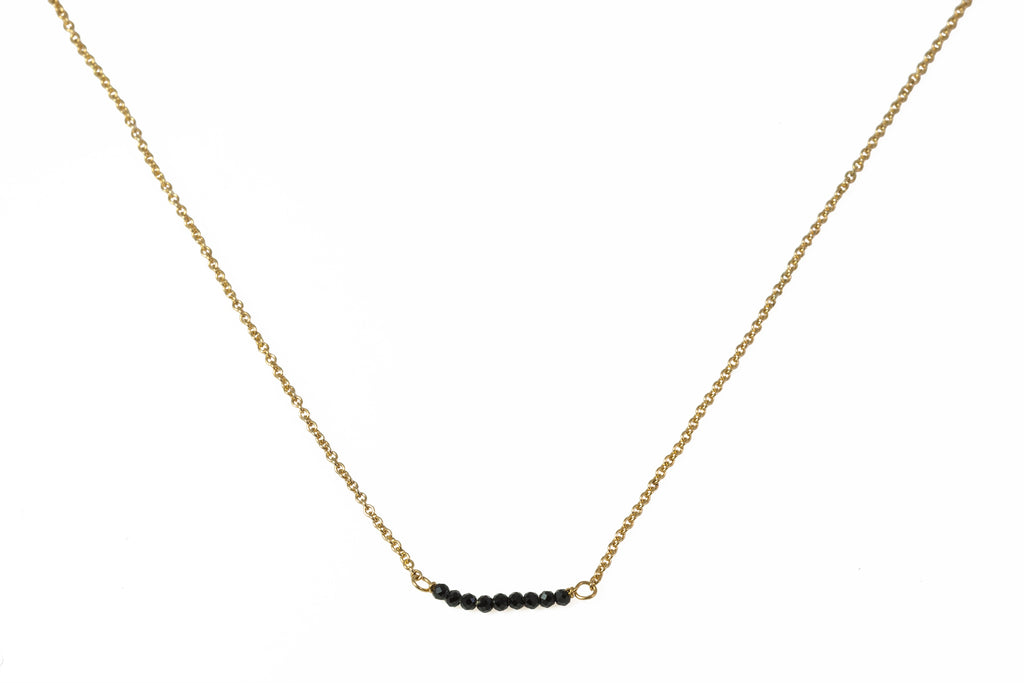High Neck with Spinel Beads Gold
