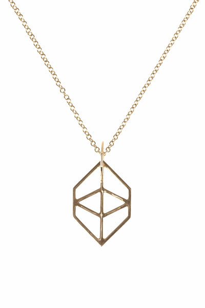 The Hexagon Pendant Gold