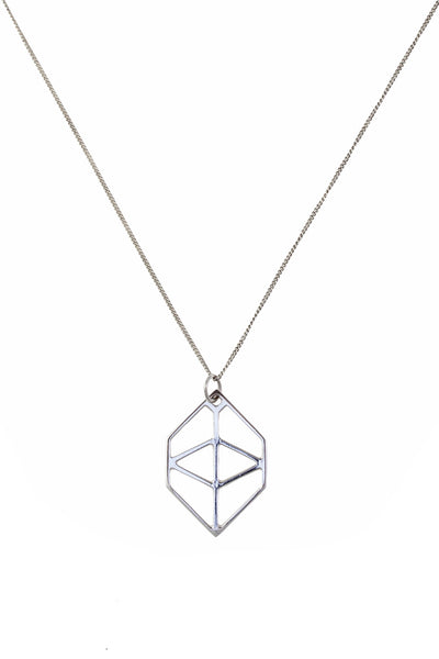 Small Hexagon Pendant Silver