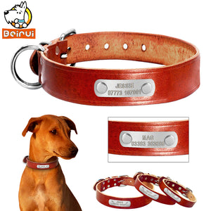 Customized Personalized Leather Dog Collar