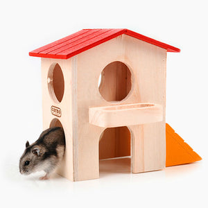 Two Story Hamster Wooden Play House
